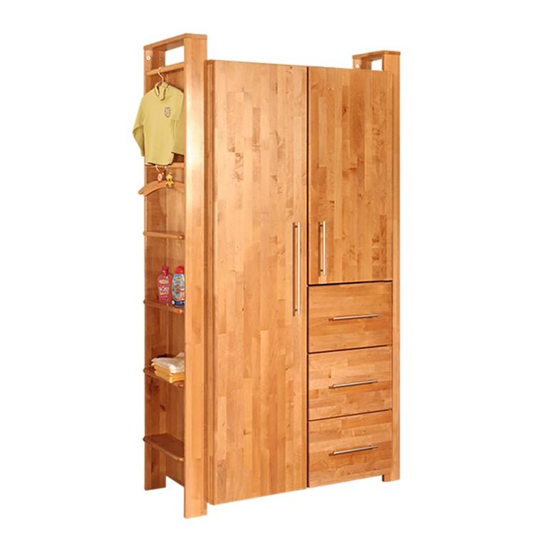 kleiderschrank gustav 2 trg erle massiv taube g nstig bestellen. Black Bedroom Furniture Sets. Home Design Ideas