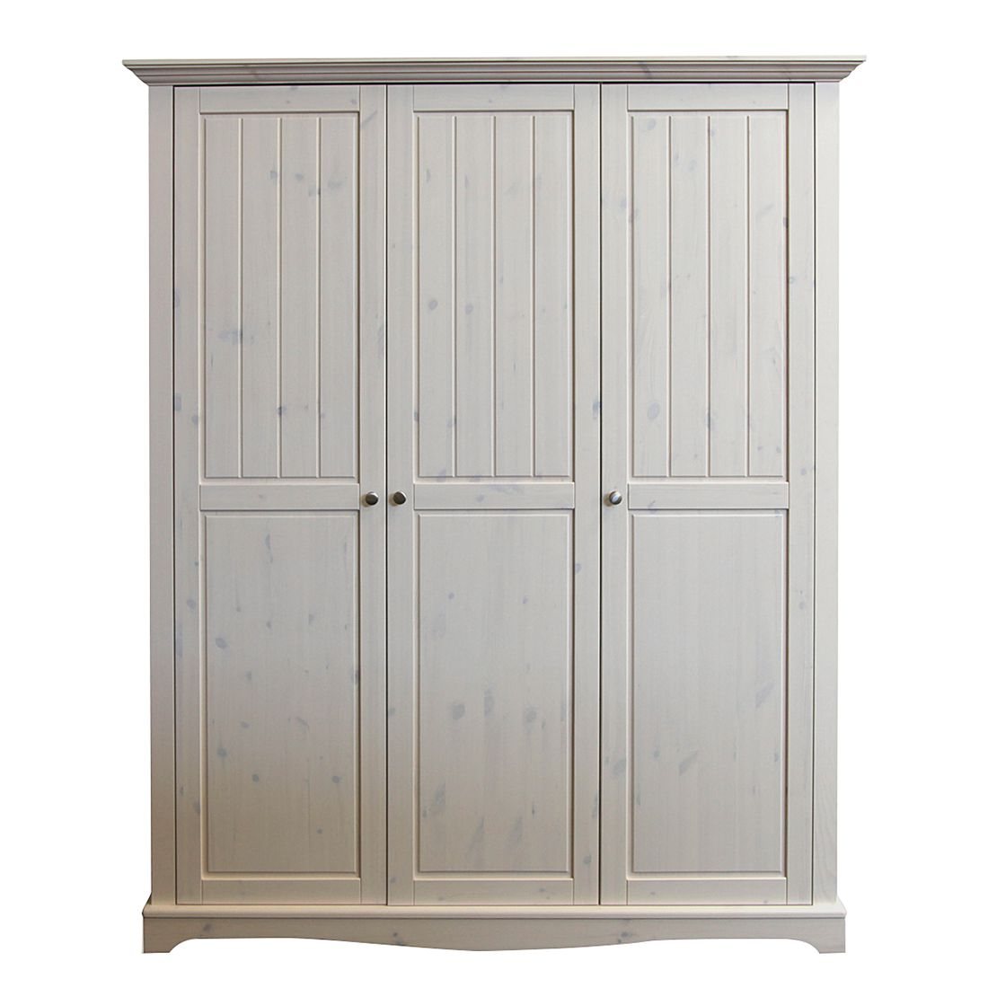 kleiderschrank karlotta 3 t rig kiefernholz white wash. Black Bedroom Furniture Sets. Home Design Ideas