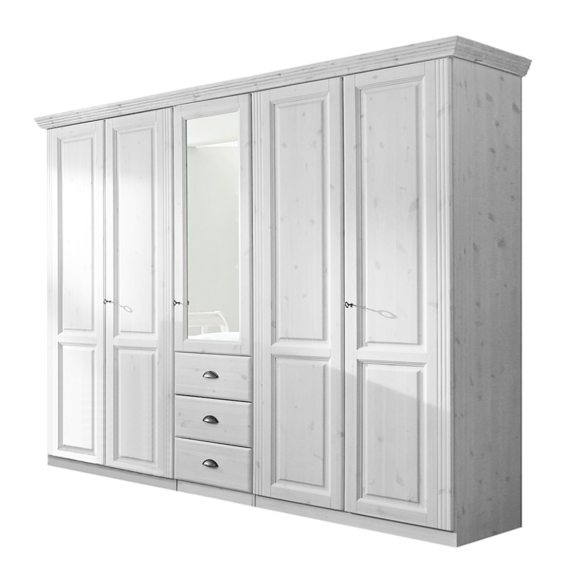 kleiderschrank magister kiefer massivholz wei 4home online bestellen. Black Bedroom Furniture Sets. Home Design Ideas