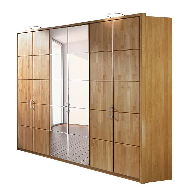 kleiderschrank marco erle teilmassiv spiegel natur. Black Bedroom Furniture Sets. Home Design Ideas
