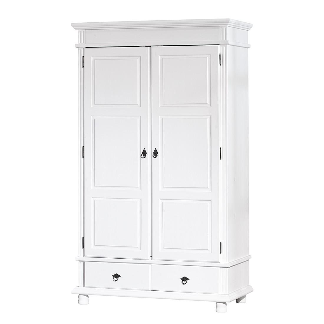 Kleiderschrank Nila - Kiefer massiv - Weiß lackiert - Schrank.info ...