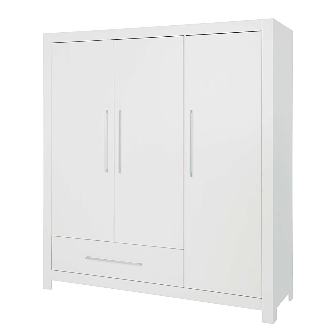 Kleiderschrank Puro (3-türig) - Fichte - Weiß - Lasiert, Pinolino