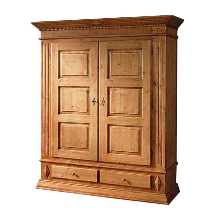 kleiderschrank rivoli i fichte massiv mit standard einteilung gradel. Black Bedroom Furniture Sets. Home Design Ideas