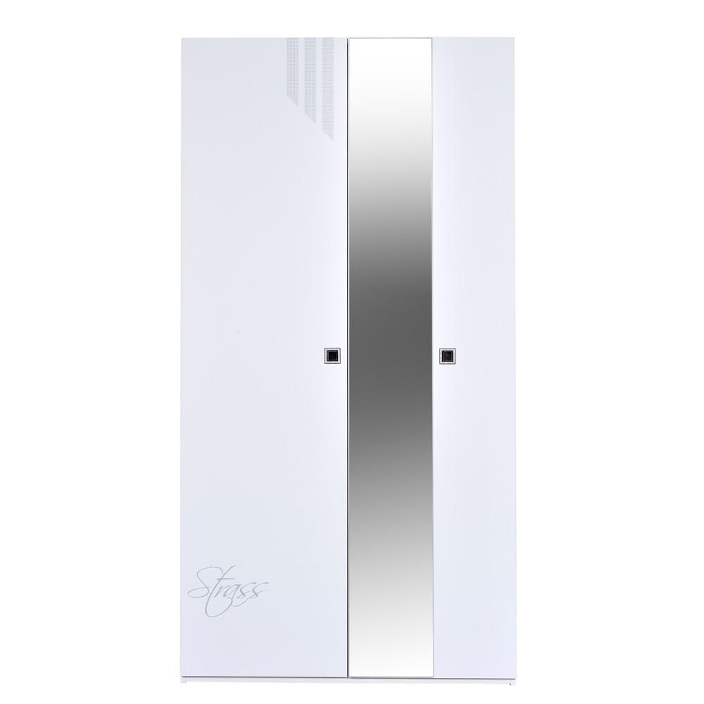 Kleiderschrank weiß hochglanz mit spiegel  Kleiderschrank Salerno - Weiß Hochglanz - Mit Spiegel - Schrank ...