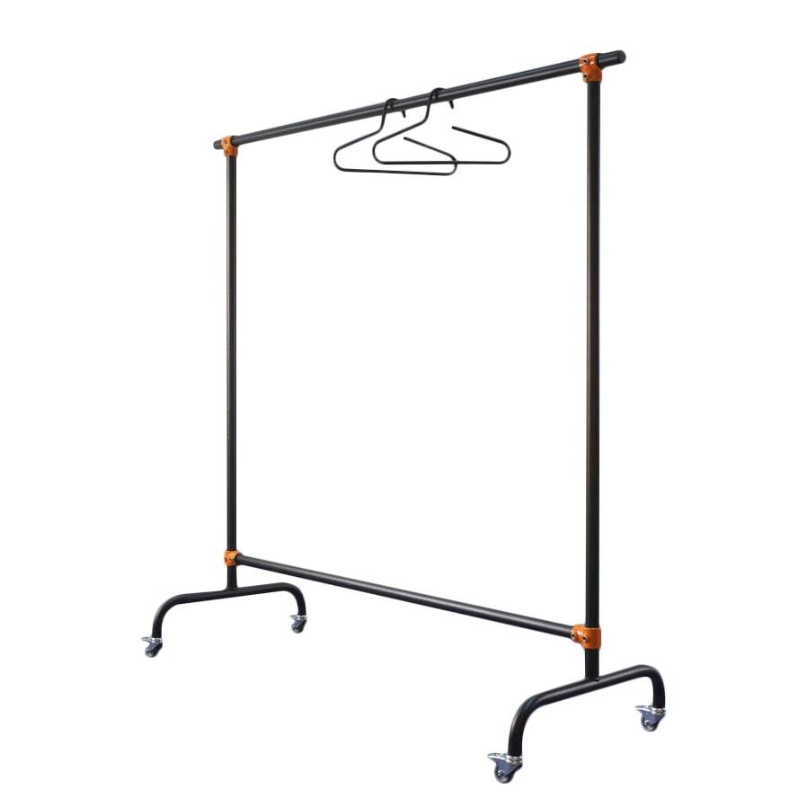 Kleiderständer De Jong – Schwarz/Orange – Breite: 171 cm, PureDay günstig