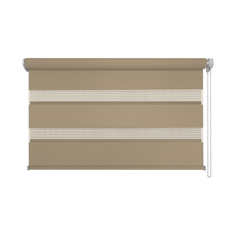 klemmfix doppelrollo just braun 80 x 210 cm jalousie verdunklungsrollo ebay. Black Bedroom Furniture Sets. Home Design Ideas