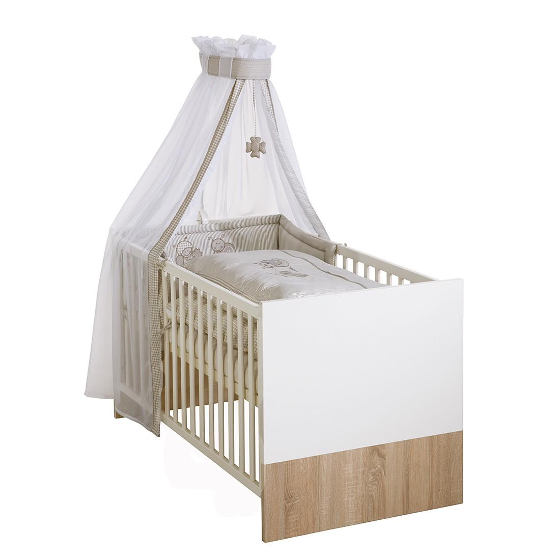 Kombi-Kinderbett Ancona - Eiche Sägerau Dekor / Weiß, Roba
