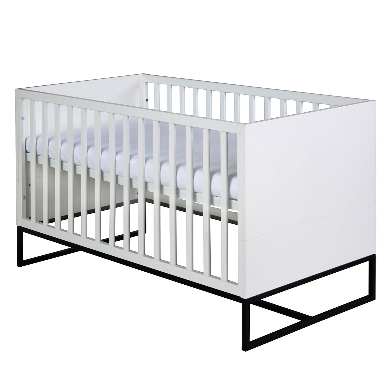 Kombi-Kinderbett Cosmo - Weiß / Schwarz, Schardt