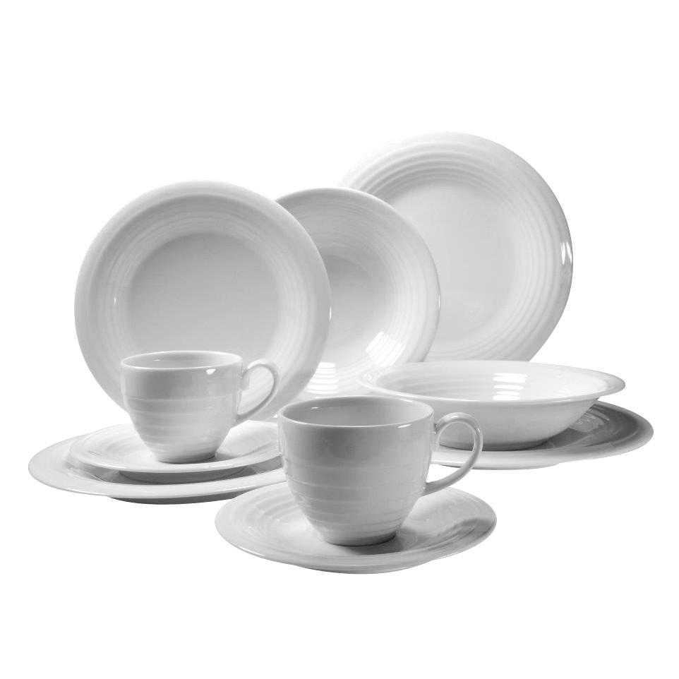 Kombiservice Circles (30-teilig) – Weiß, Creatable bestellen