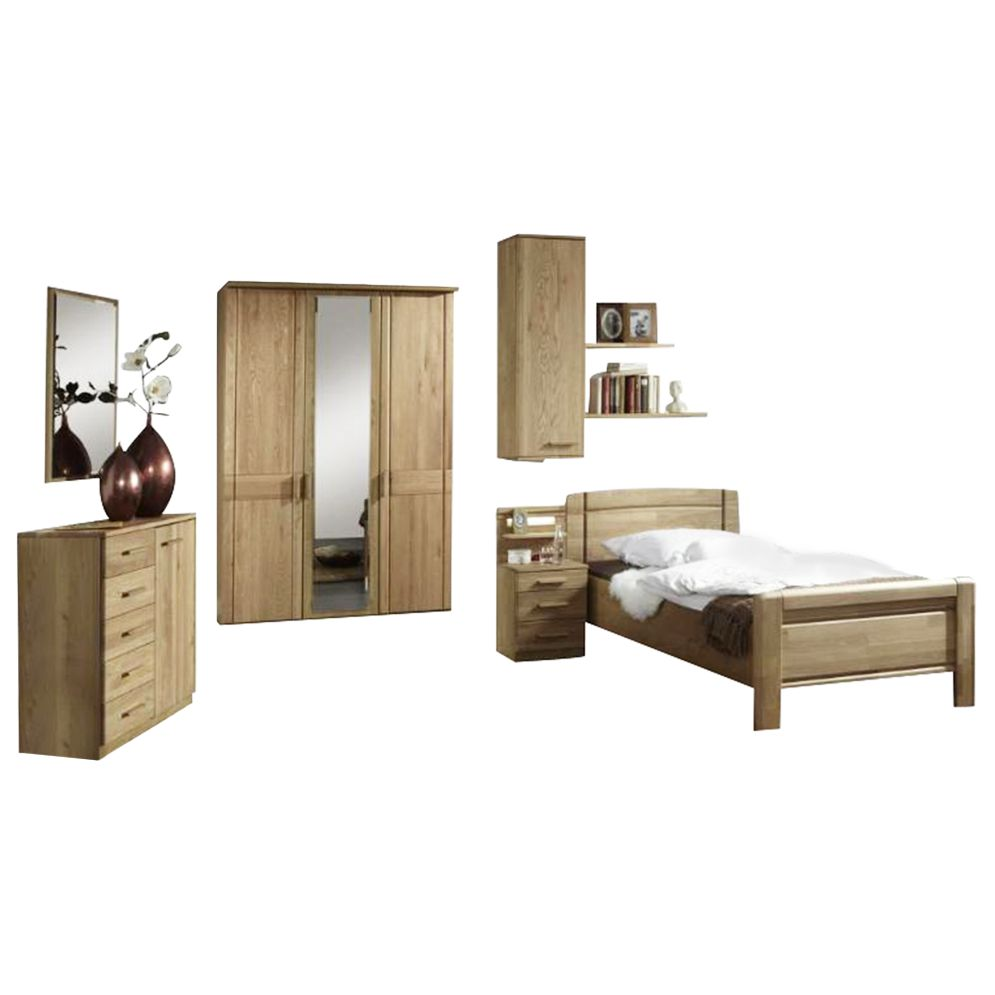 Komfort Schlafzimmer Münster – Eiche teilmassiv – Eiche – 220x150x58, Althoff jetzt bestellen