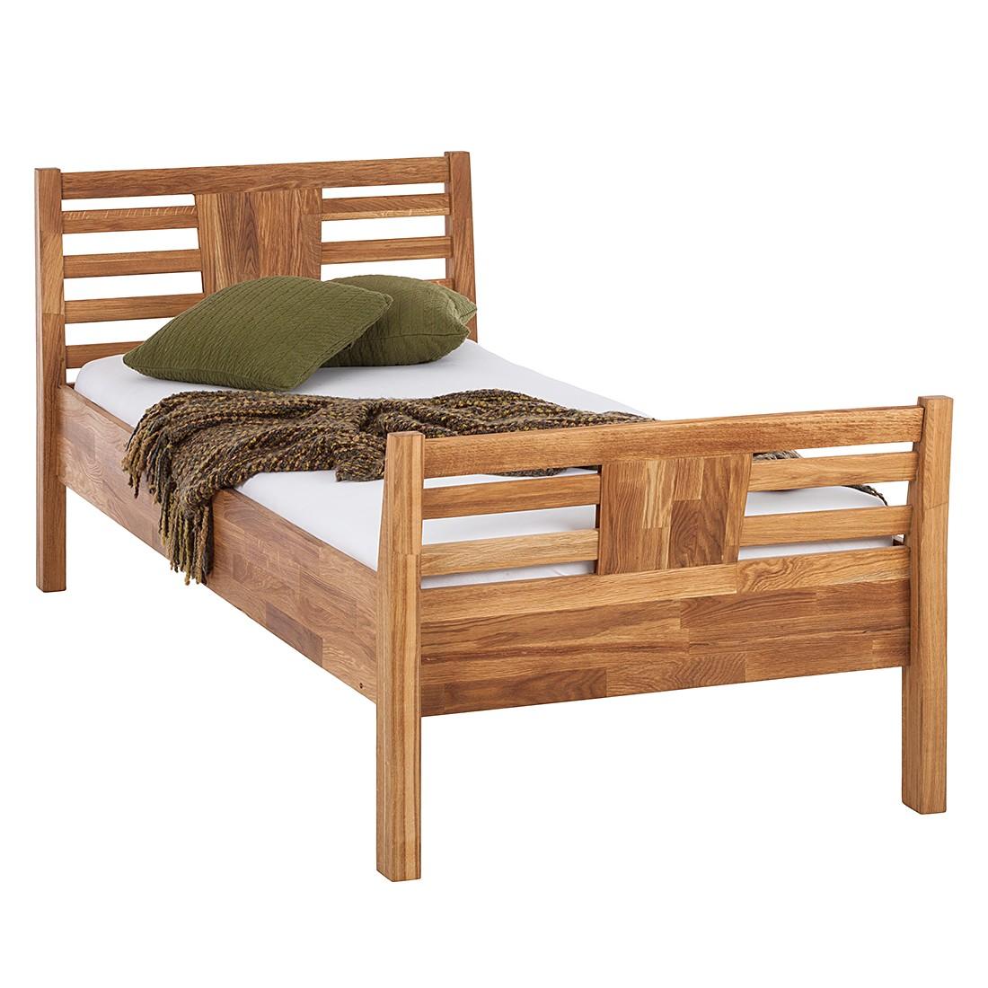 Energie A+, Comfortabel Bed Bari Massief Eikenhout 200 X 200CM Eik Led ...