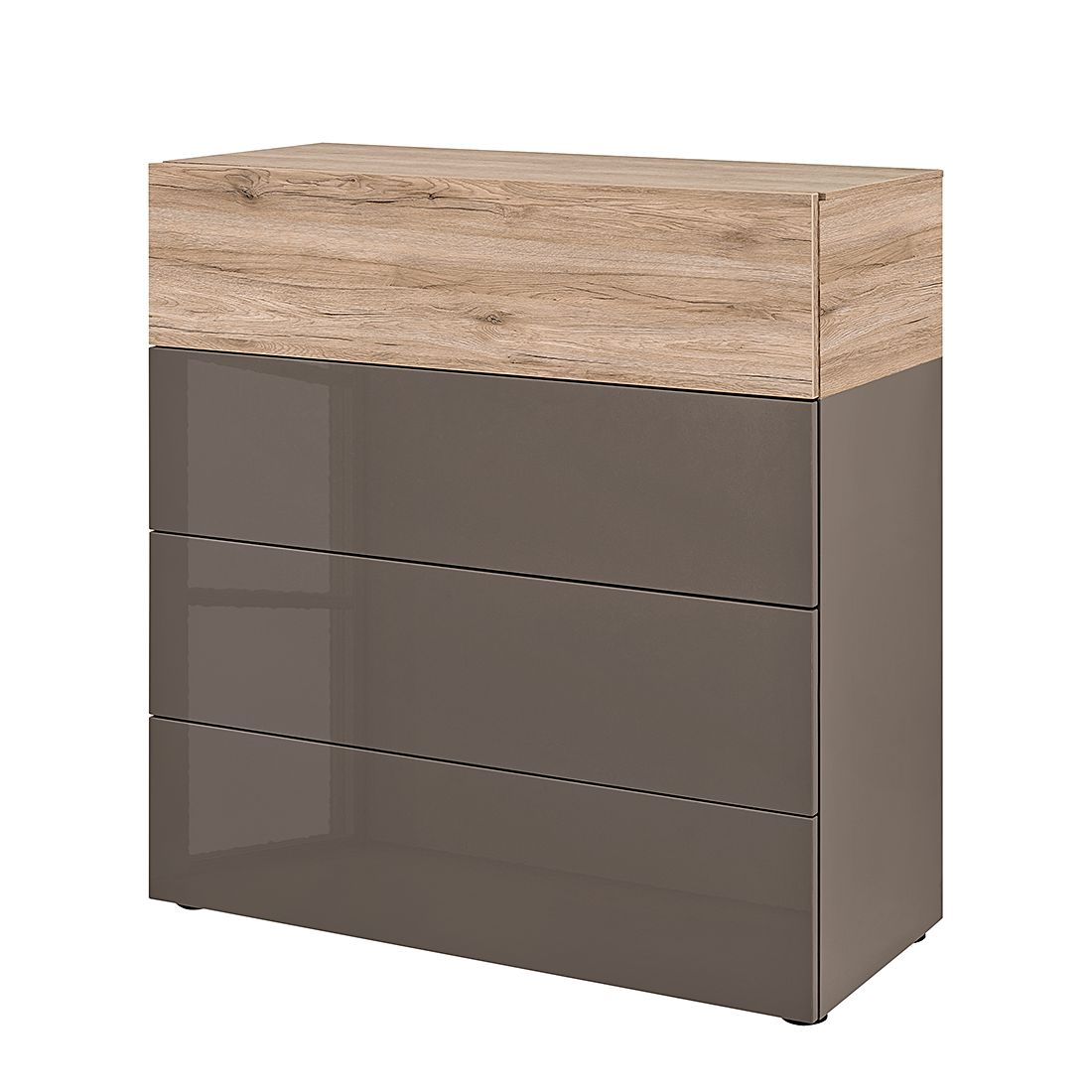sideboard beam i cubanit hochglanz cubanit eiche dunkel dekor arte m g nstig kaufen. Black Bedroom Furniture Sets. Home Design Ideas