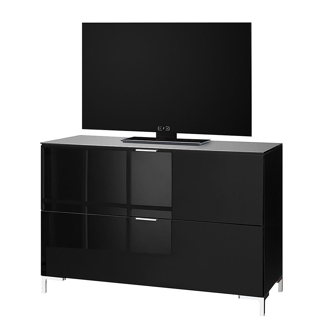 kommode cleo i schwarz chromf e cs schmal online kaufen. Black Bedroom Furniture Sets. Home Design Ideas