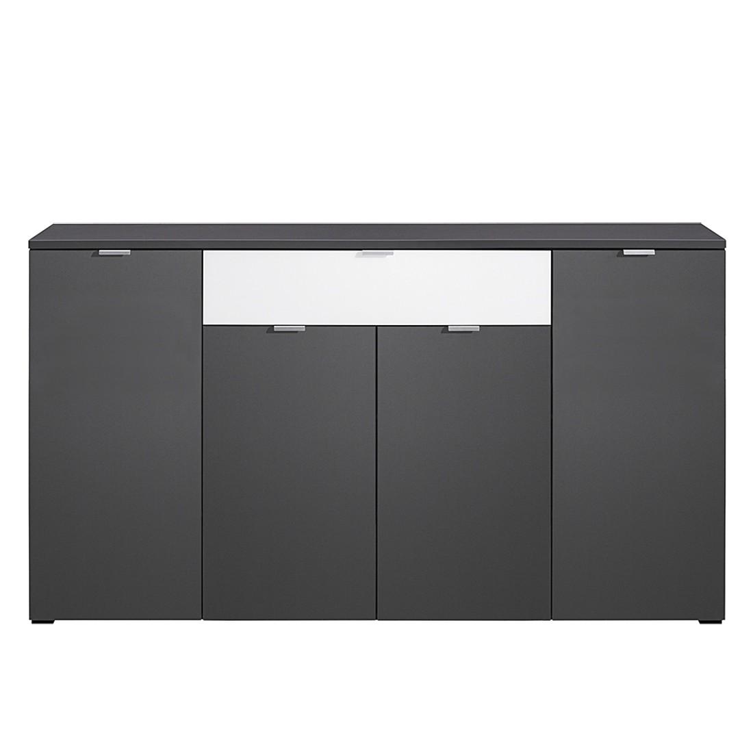 kommode compleo vi graphit wei glas. Black Bedroom Furniture Sets. Home Design Ideas
