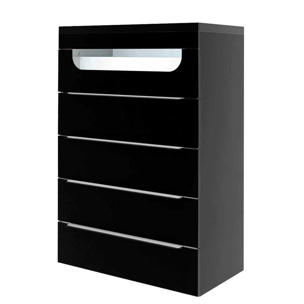 kommode delphi schwarz mit beleuchtung modell 2. Black Bedroom Furniture Sets. Home Design Ideas