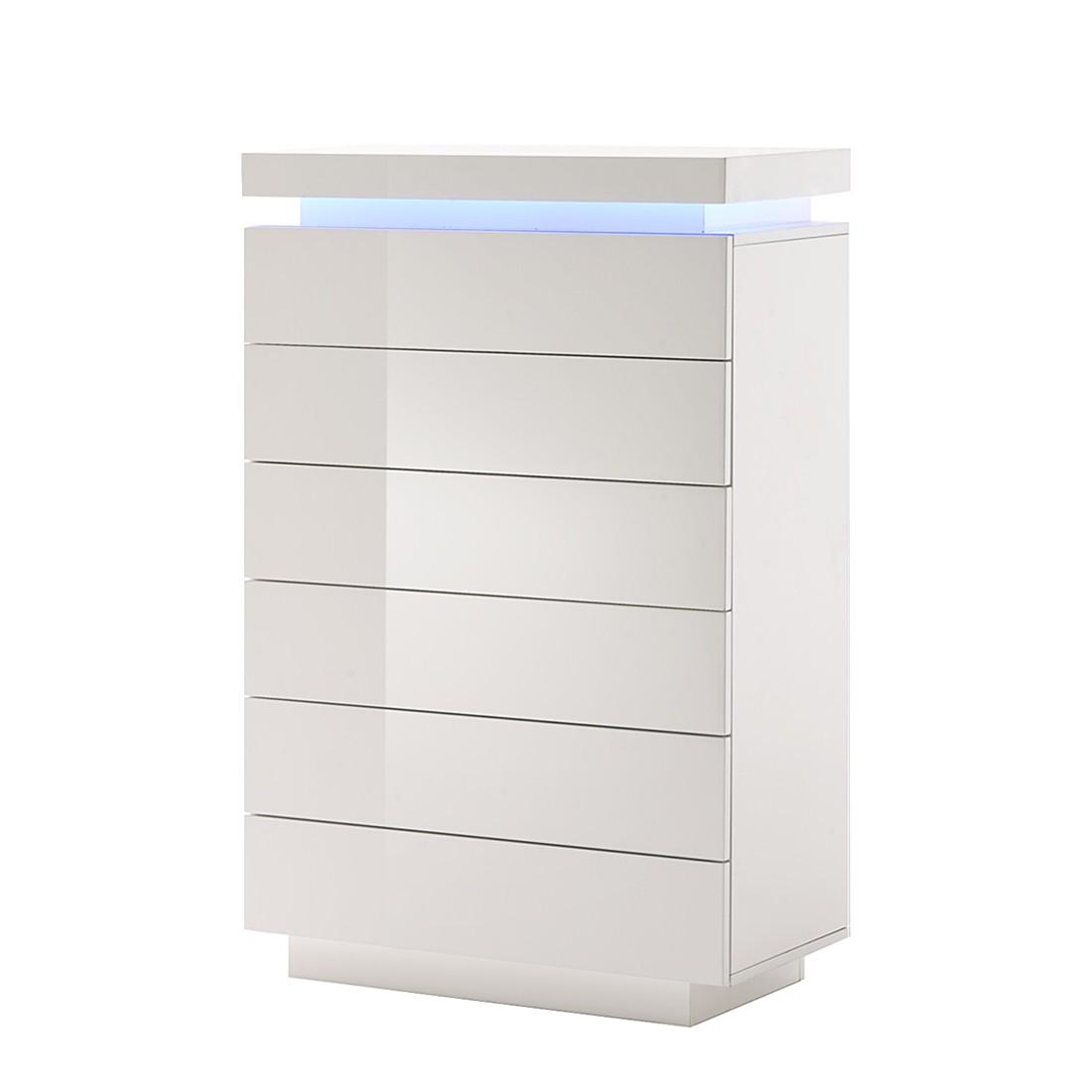 Kommode Emblaze 1 Hochglanz Weiß Inkl Led Beleuchtung Schrank