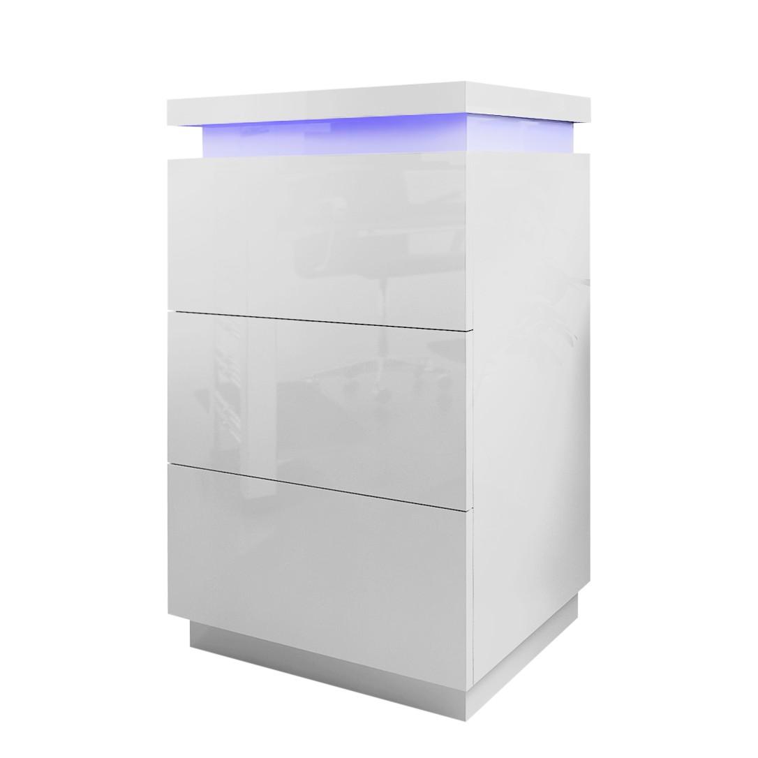EEK A+, Kommode Emblaze I (inkl. Beleuchtung) – Hochglanz Weiß, loftscape jetzt bestellen
