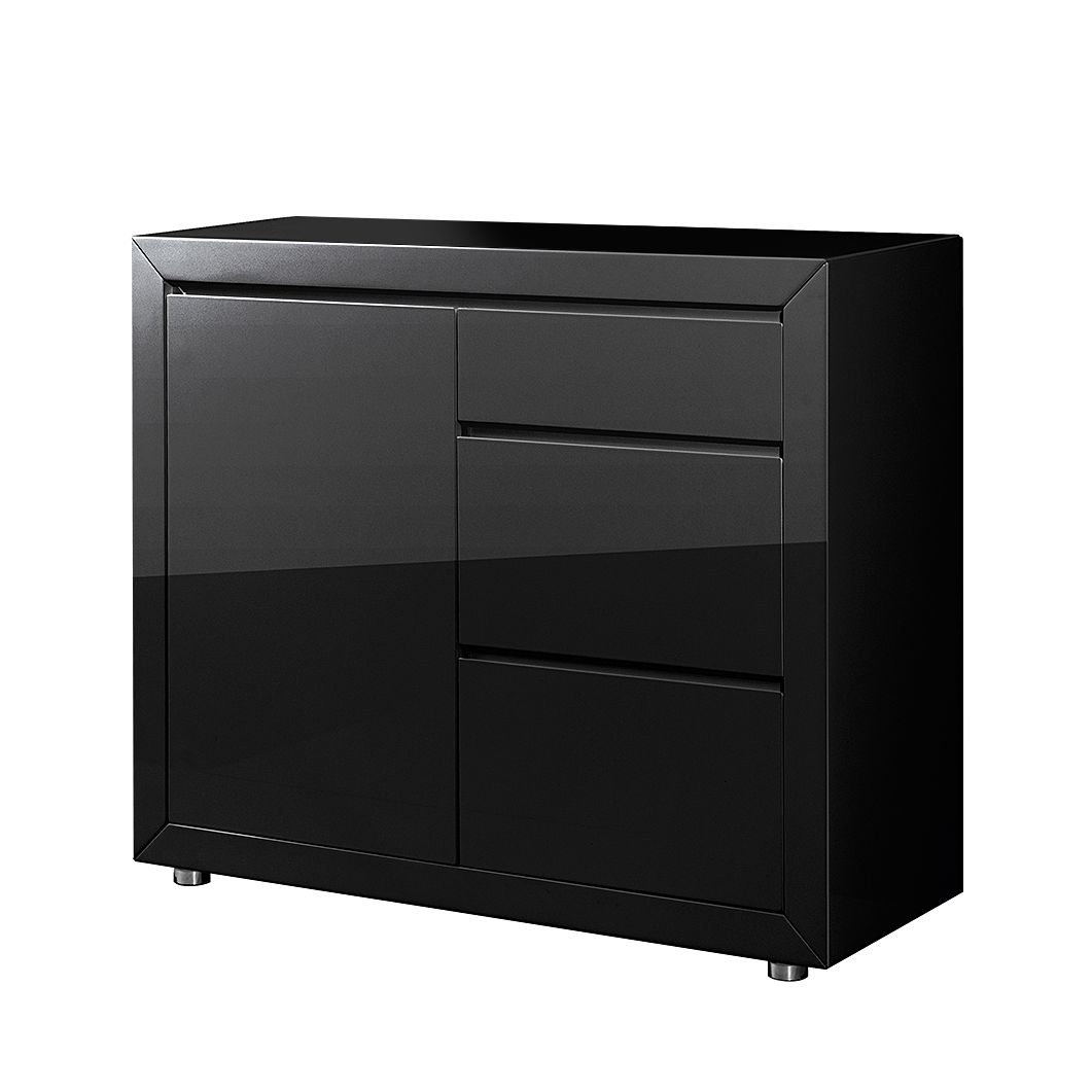 kommode fina 1 t rig hochglanz schwarz. Black Bedroom Furniture Sets. Home Design Ideas
