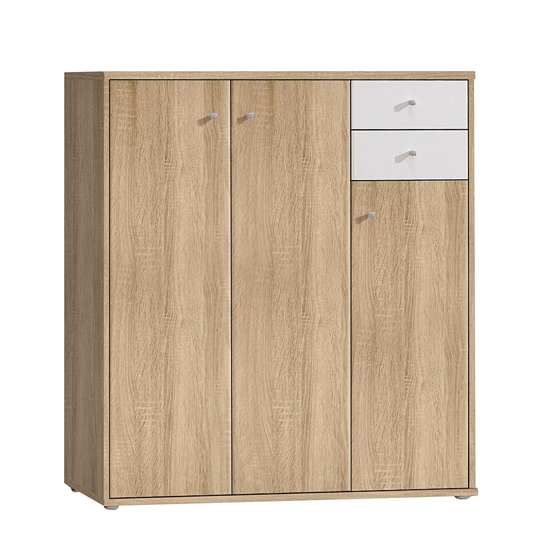 kommode baseline iii sonoma eiche dekor wei schrank. Black Bedroom Furniture Sets. Home Design Ideas