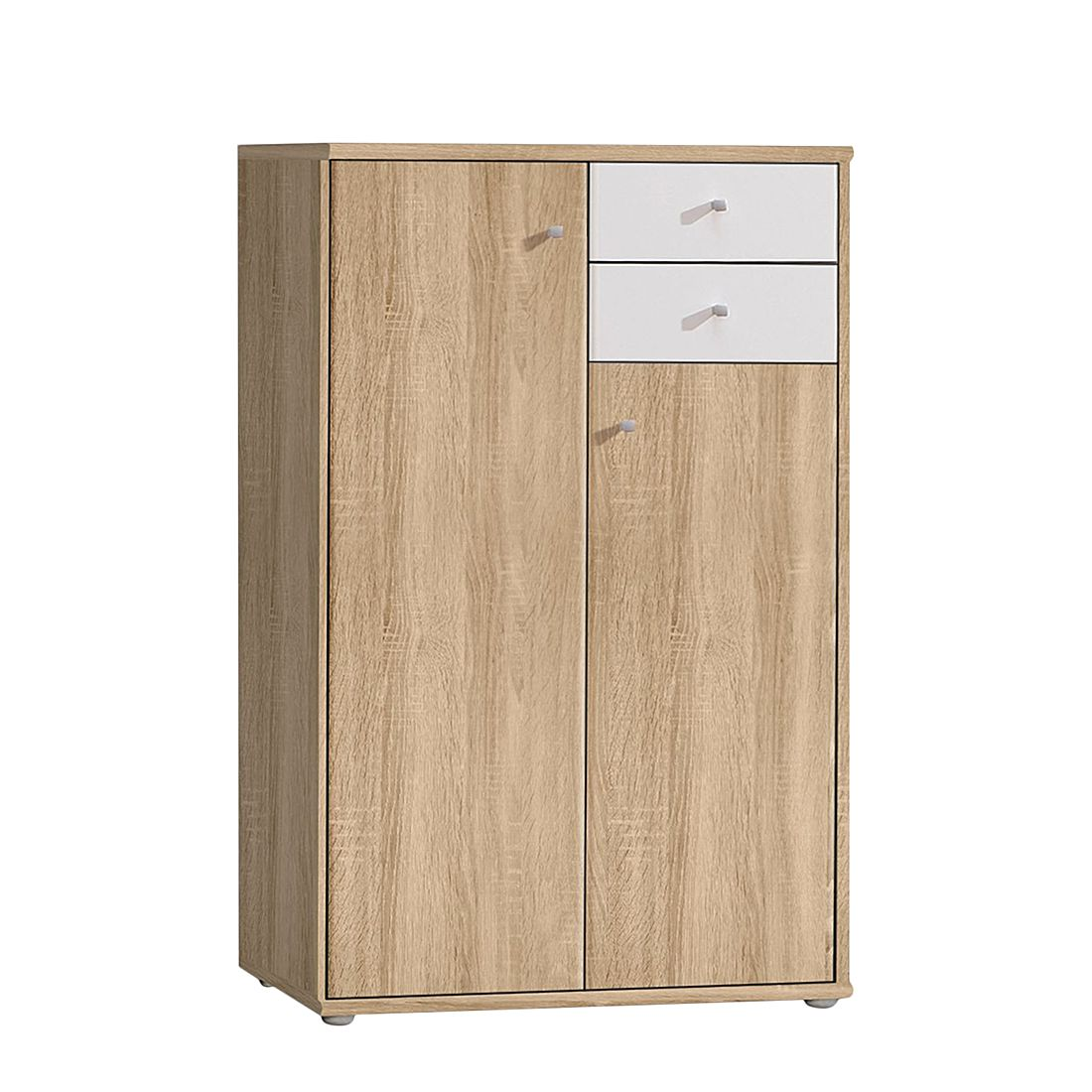 kommode baseline ii sonoma eiche dekor wei schrank. Black Bedroom Furniture Sets. Home Design Ideas