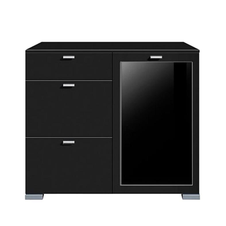kommode gallery plus 1 t rig glas 3 schubladen schwarz. Black Bedroom Furniture Sets. Home Design Ideas