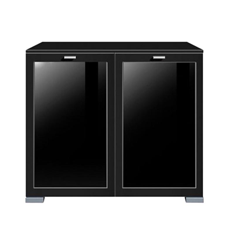 kommode gallery plus 2 t rig glas schwarz schrank. Black Bedroom Furniture Sets. Home Design Ideas