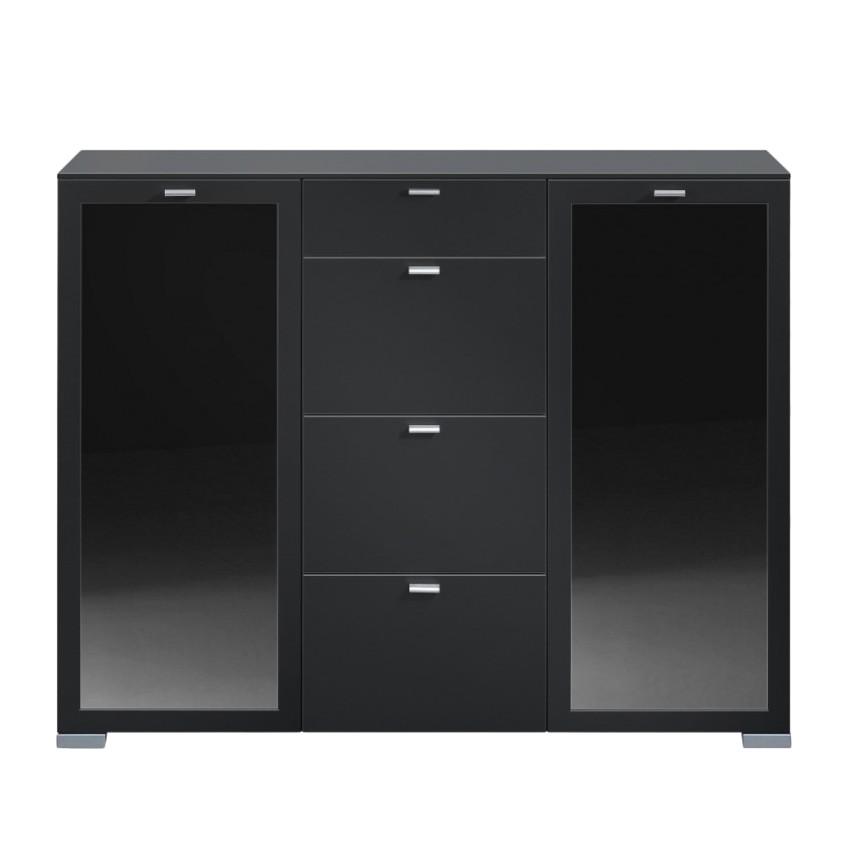 kommode gallery plus schwarz. Black Bedroom Furniture Sets. Home Design Ideas