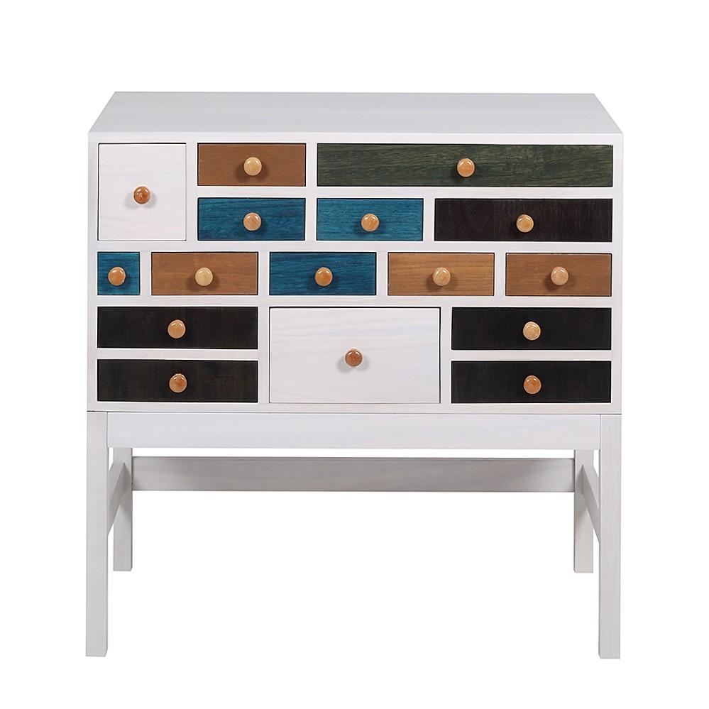 kommode holly 2 16 schubladen mehrfarbig. Black Bedroom Furniture Sets. Home Design Ideas
