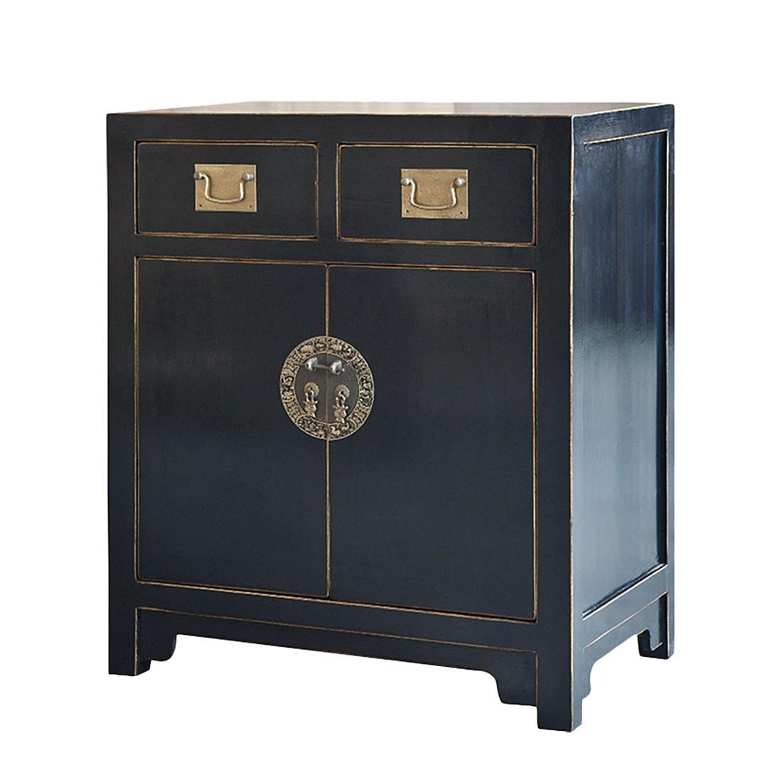 kommode jinan i pappel massiv schwarz lackiert. Black Bedroom Furniture Sets. Home Design Ideas