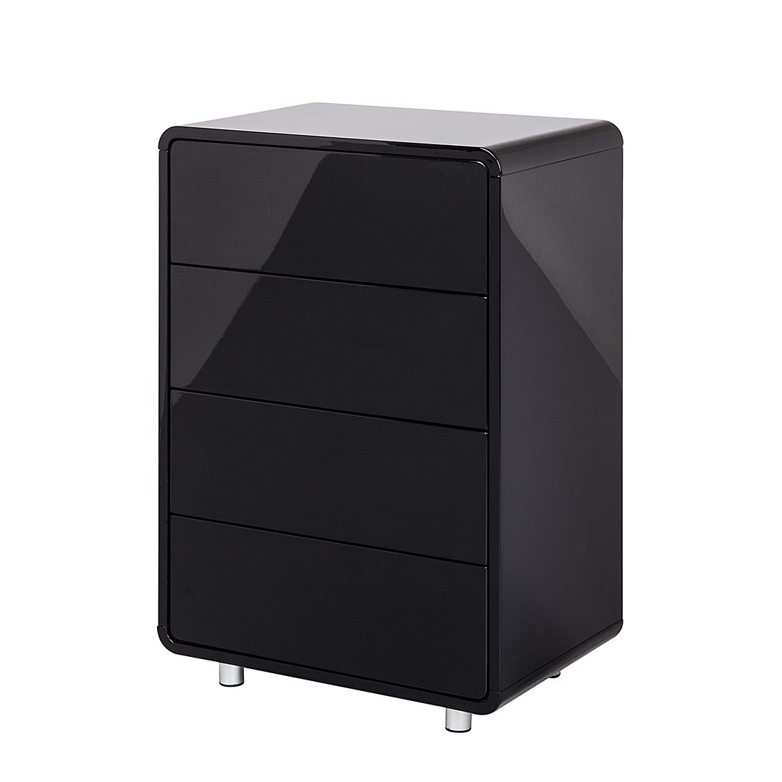 kommode kasy 2 hochglanz schwarz. Black Bedroom Furniture Sets. Home Design Ideas
