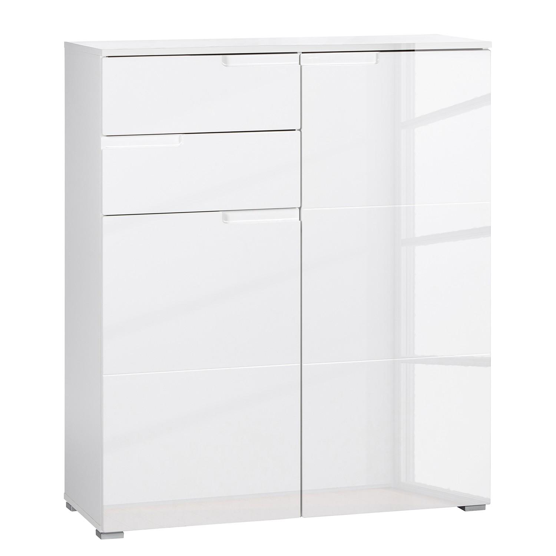 Kommode Kleiderschrank Niedrig : Kommode Larado VII  Hochglanz Weiß  Weiß , roomscape