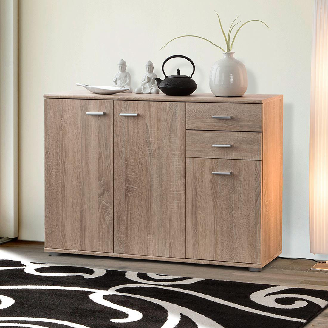 kommode loos l eiche sonoma. Black Bedroom Furniture Sets. Home Design Ideas