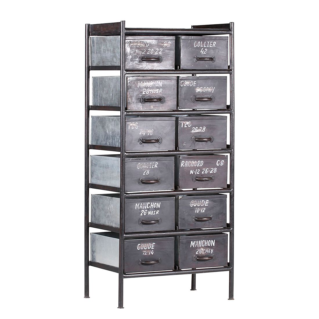 kommode aus metall g nstig kaufen. Black Bedroom Furniture Sets. Home Design Ideas