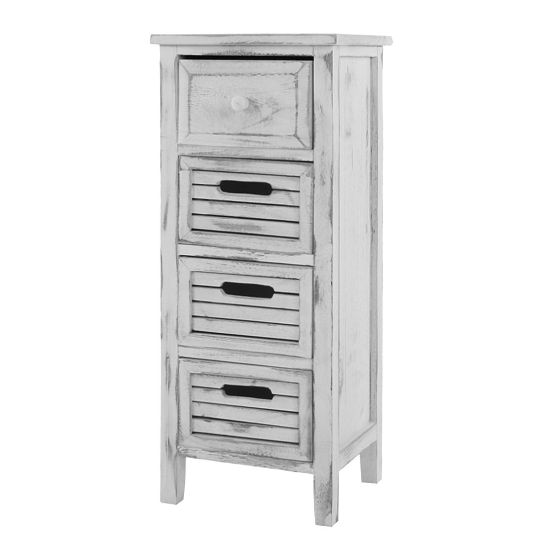 kommode 74x30x25cm shabby look vintage wei mendler. Black Bedroom Furniture Sets. Home Design Ideas