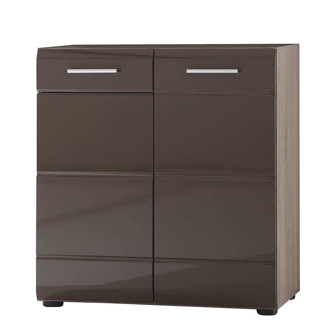 kommode storm ii eiche s gerau dunkel dekor blackbrown hochglanz. Black Bedroom Furniture Sets. Home Design Ideas