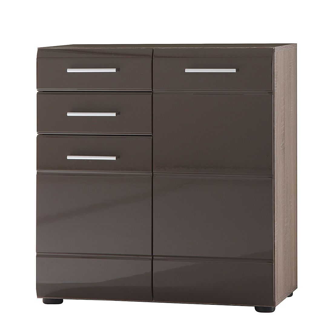 kommode storm iii eiche s gerau dunkel dekor blackbrown hochglanz. Black Bedroom Furniture Sets. Home Design Ideas