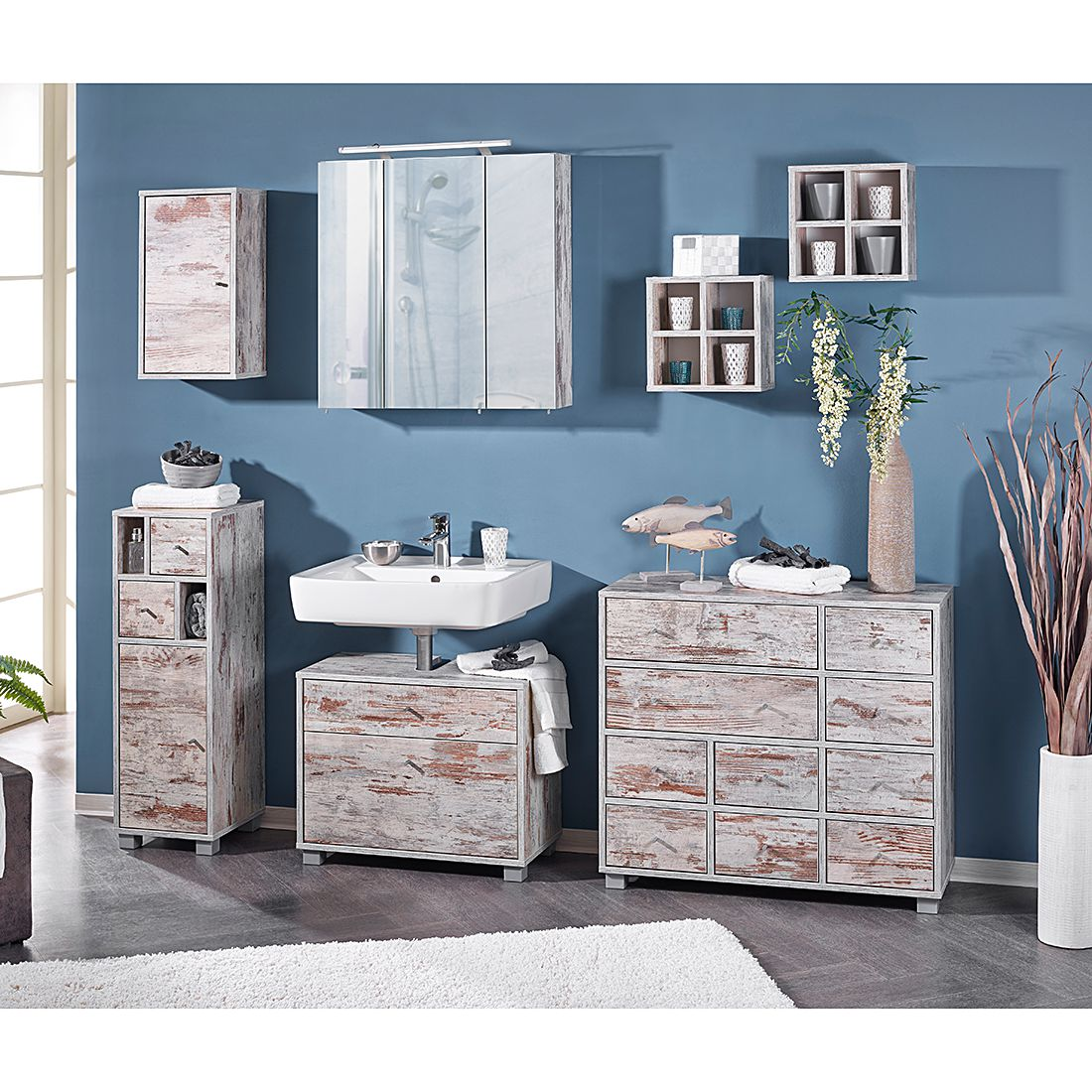 schildmeyer kommode verna iii sideboard badschrank highboard badezimmer ebay. Black Bedroom Furniture Sets. Home Design Ideas