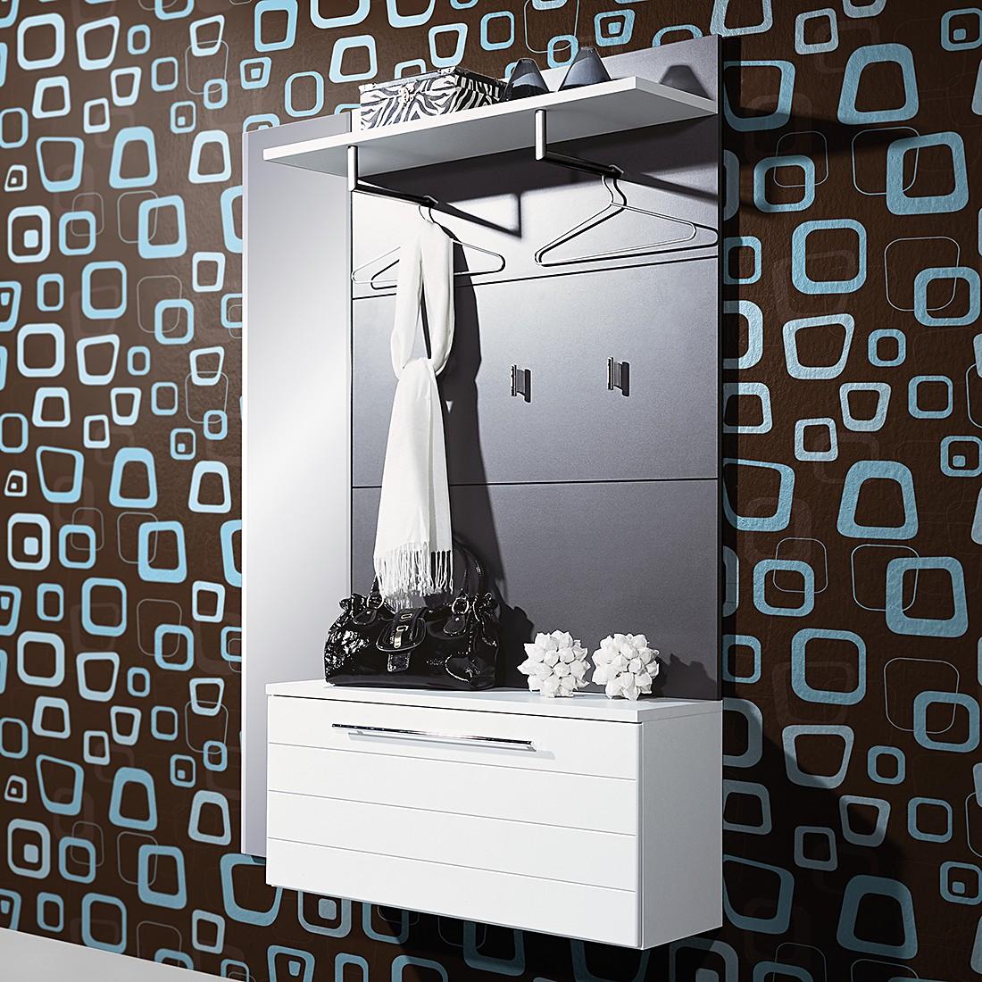 Kompaktgarderobe Alfi – Anthrazit/ Weiß Dekor, Top Square günstig kaufen