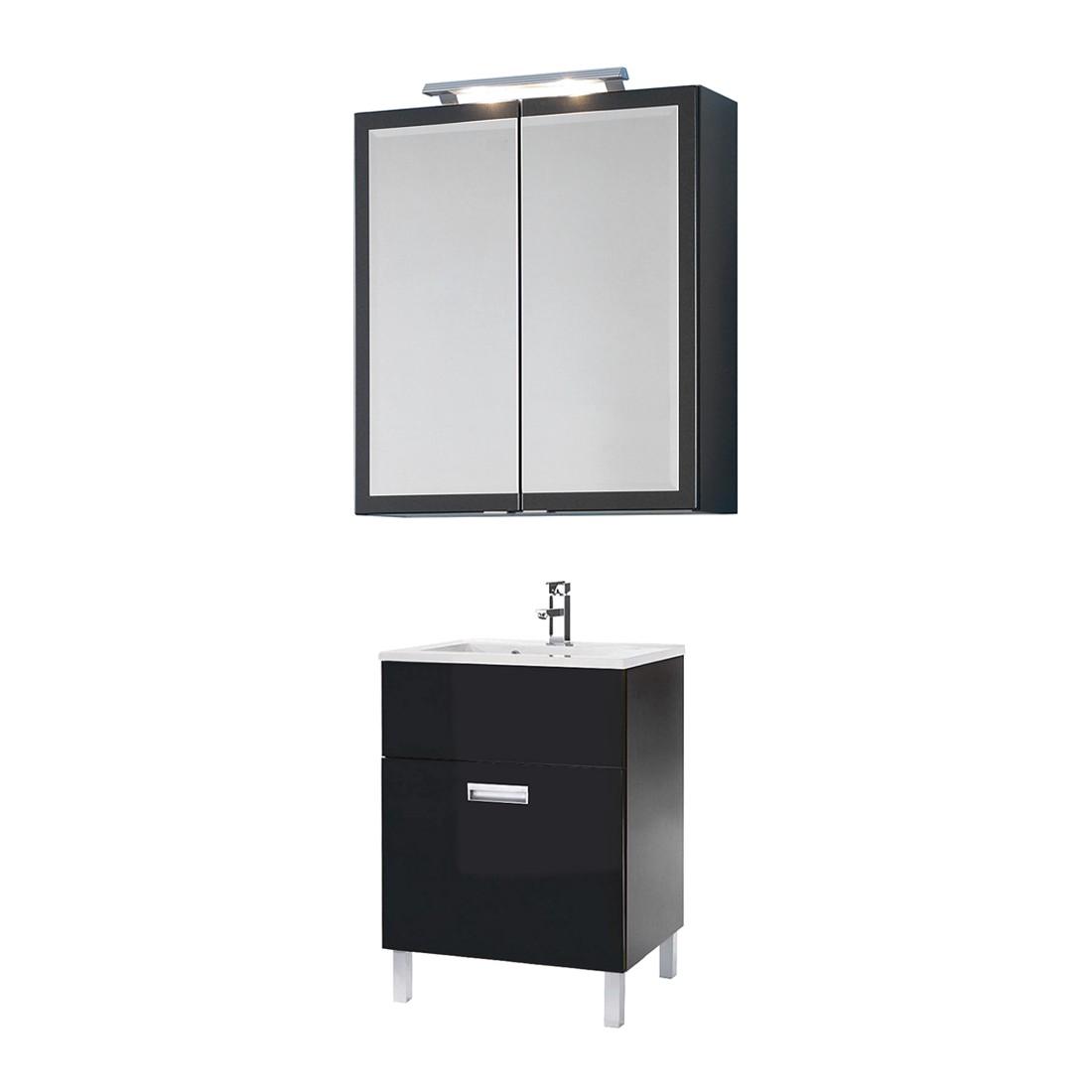 waschplatz kalmar hochglanz anthrazit mit waschtisch. Black Bedroom Furniture Sets. Home Design Ideas