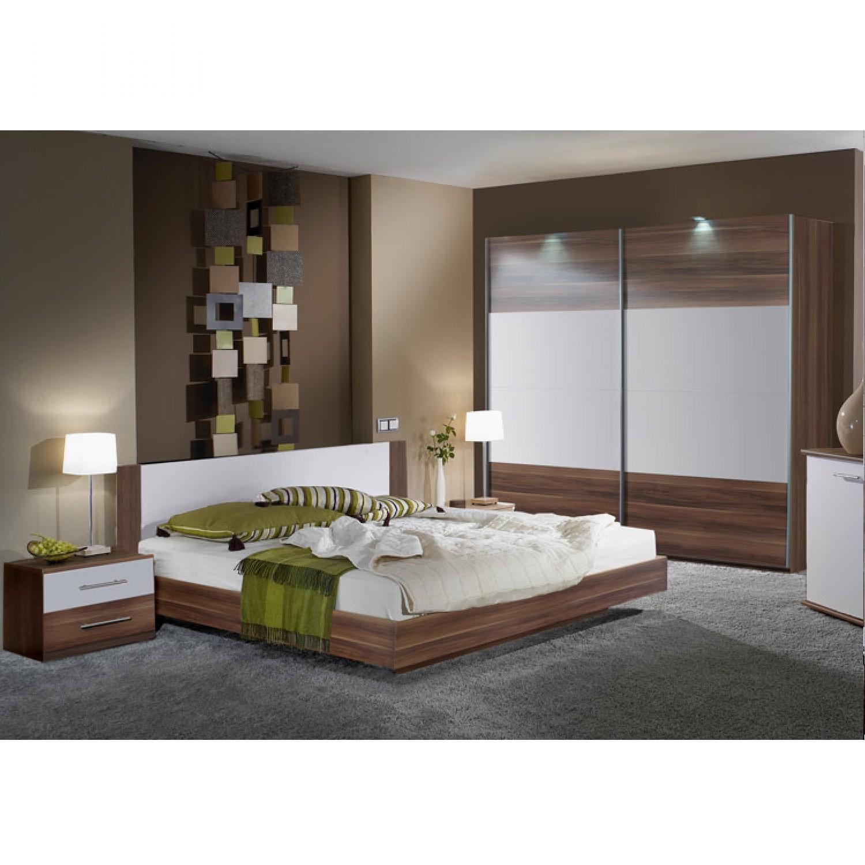 Schlafzimmerset Tinius (4-teilig) - Nussbaum Dekor/Weiß ...