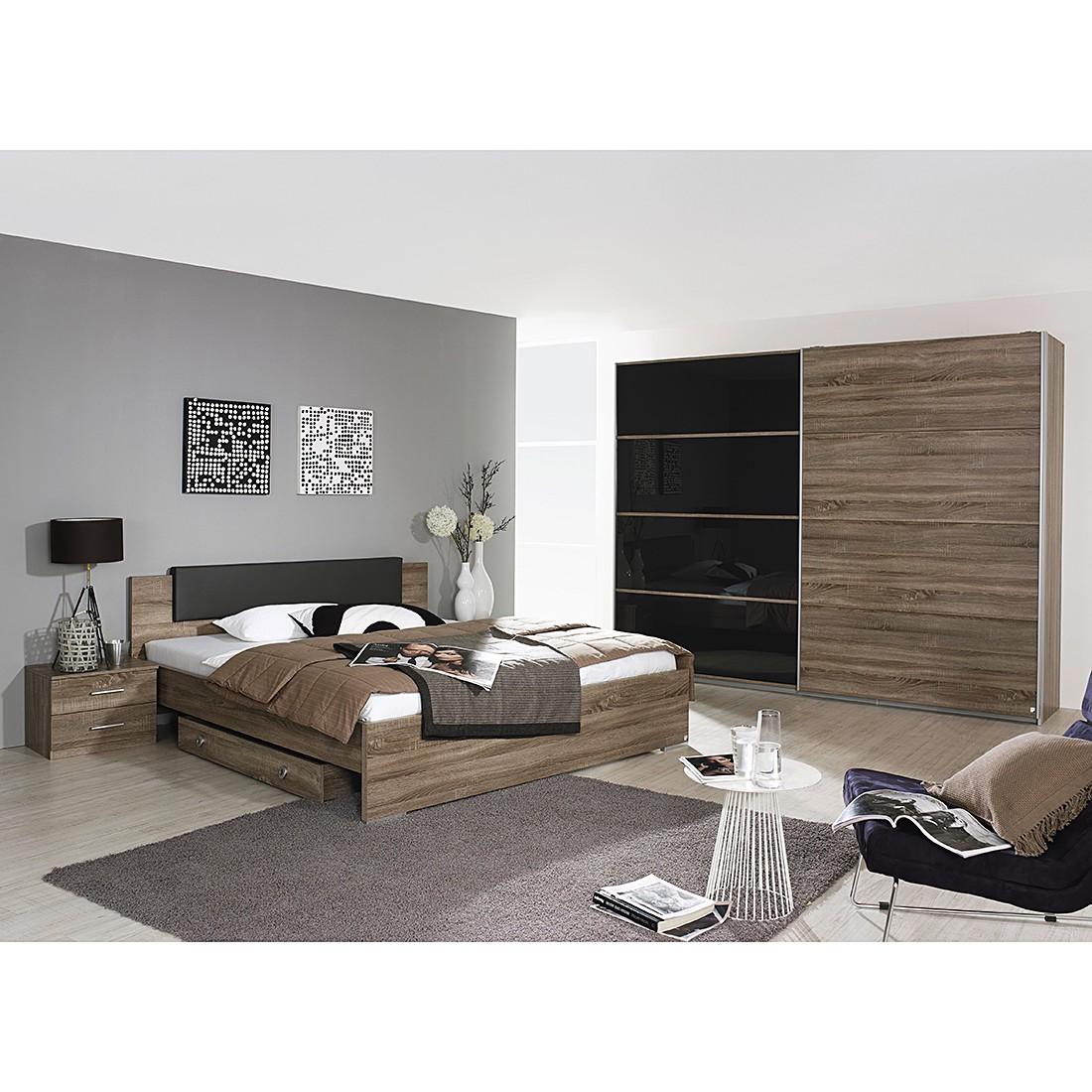 Komplettzimmer Classic Oak – Eiche Havanna/Basalt – Liegefläche Bett: 160 x 200cm, Rauch bestellen