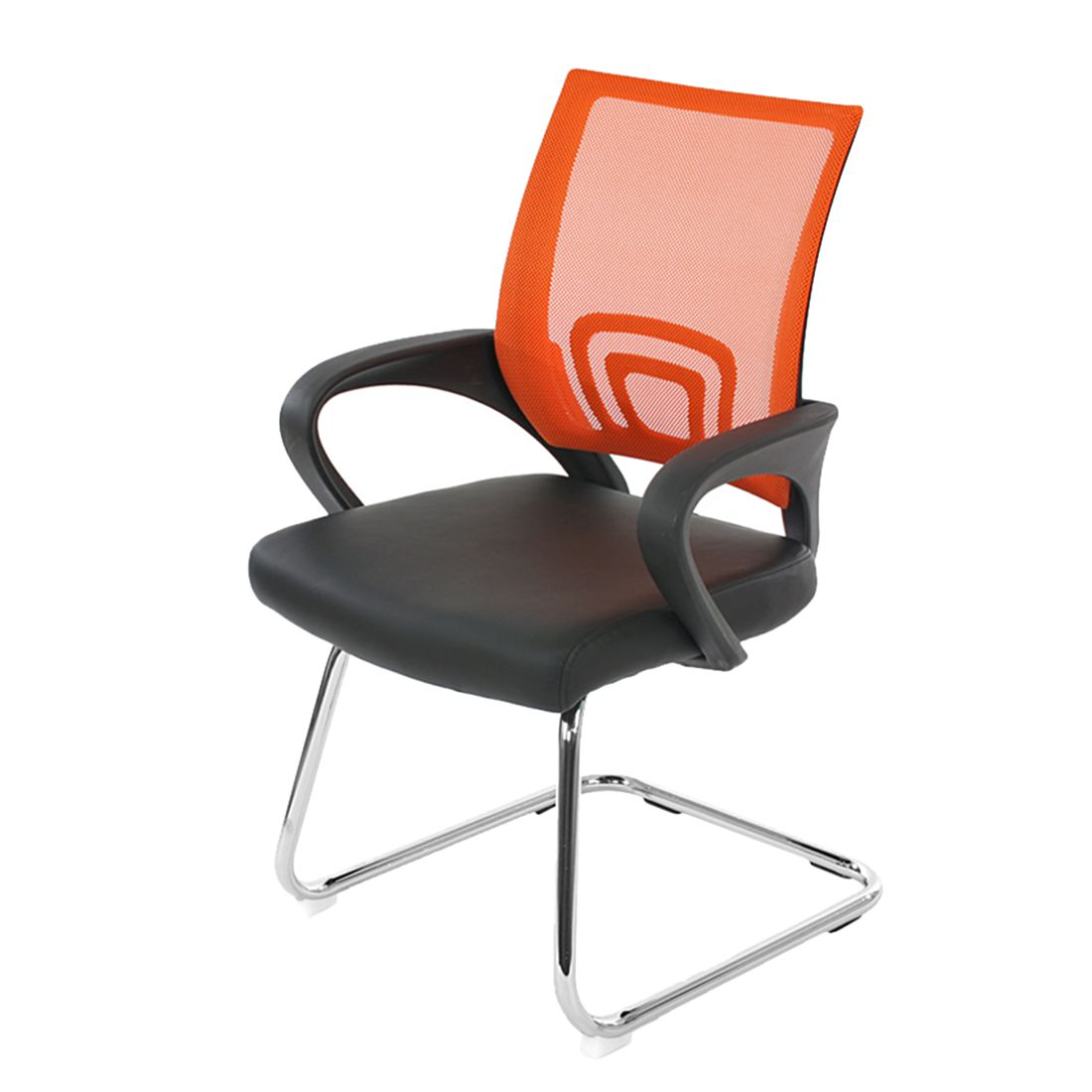 Konferenzstuhl Afragola (2er-Set) – Orange, Mendler günstig bestellen