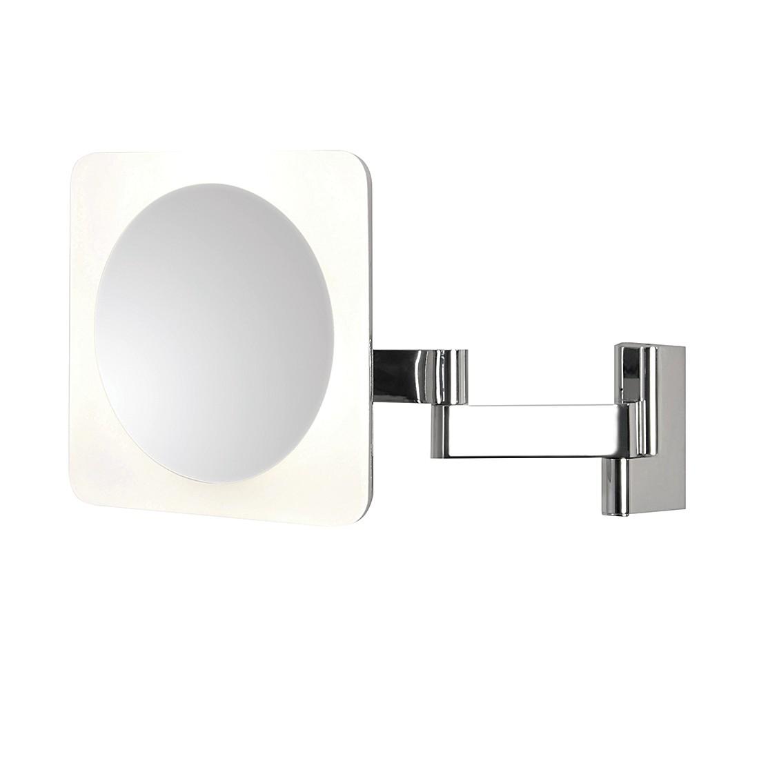 EEK A+, Kosmetikspiegel Niimi Square – Chrom – 4-flammig, Astro online bestellen