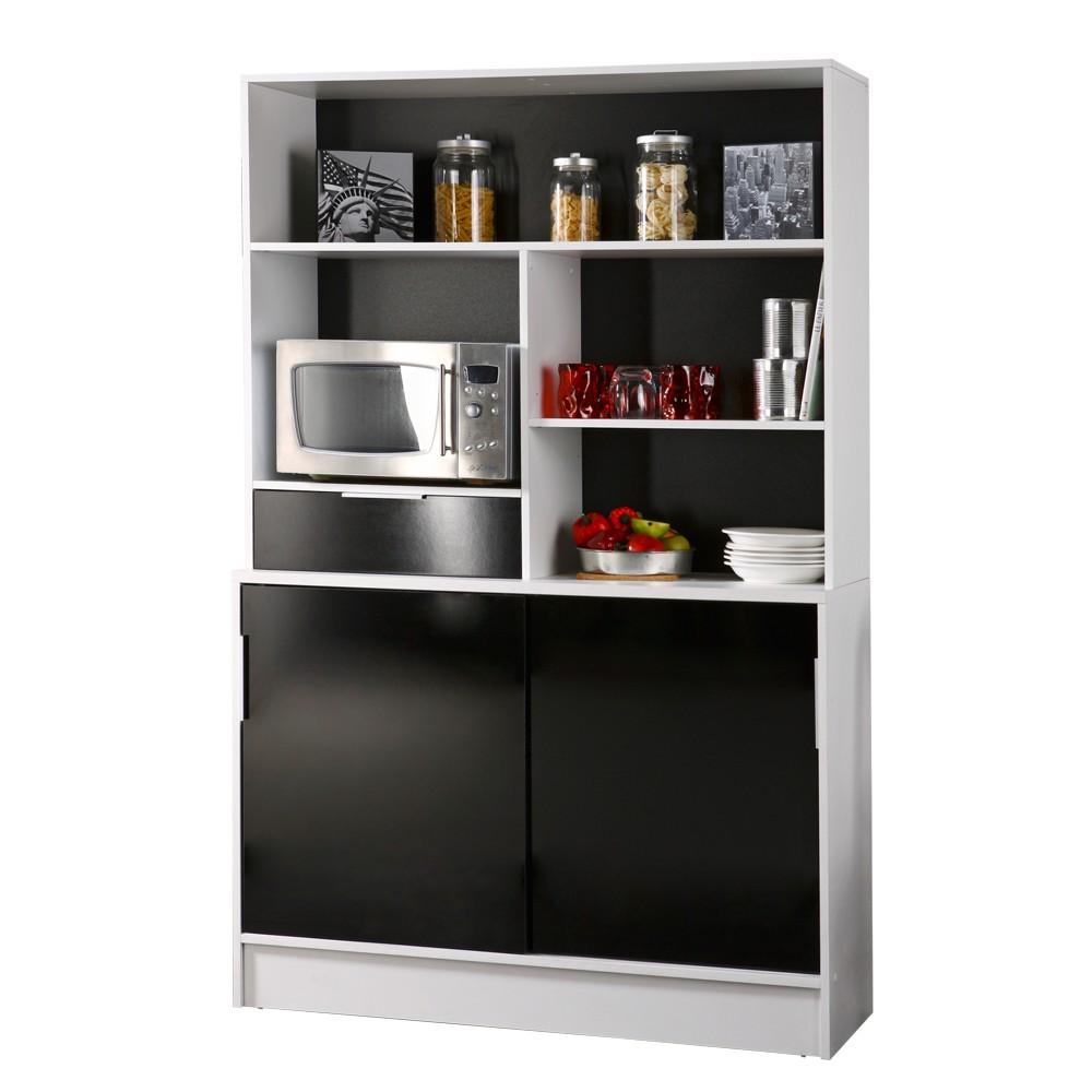 Küchenschrank Ramona - Schwarz/Weiß - Viel Stauraum