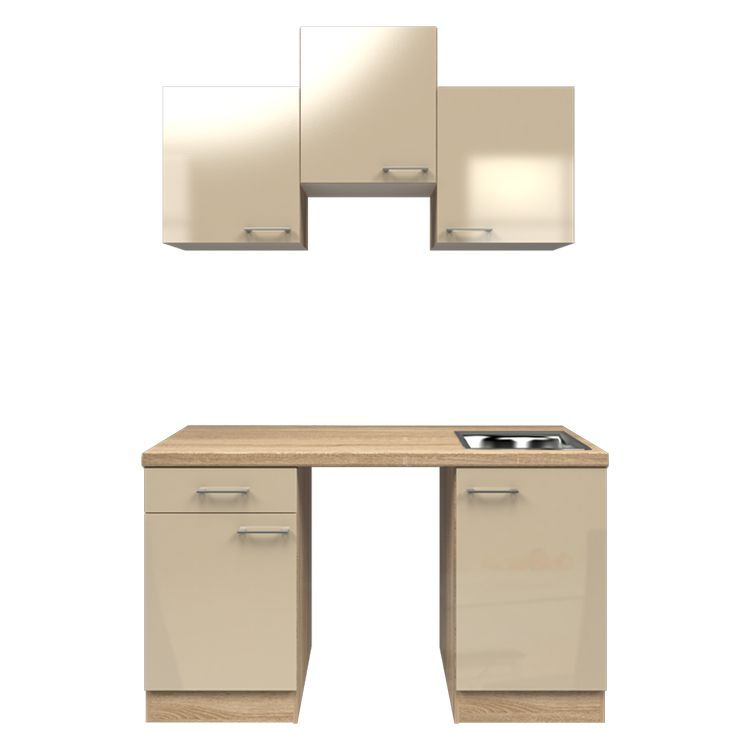Küchenzeile Ivy – Leerblock – 150 cm – Kaschmir – Eiche Sonoma Dekor, Modus Küchen bestellen