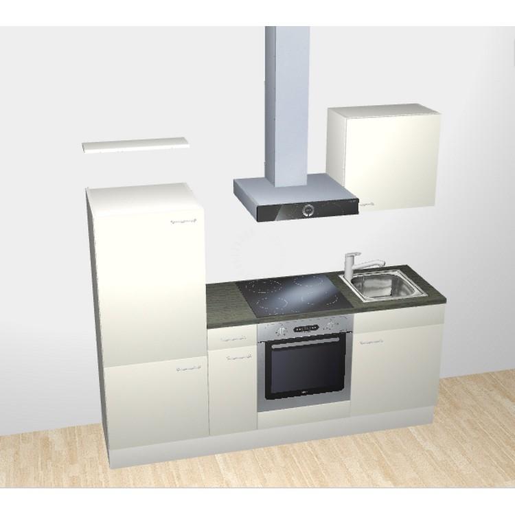 k chenzeile lennart 210 cm 4 zonen kochfeld backofen edelstahlsp hle mit armatur. Black Bedroom Furniture Sets. Home Design Ideas
