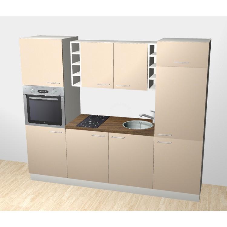 k chenzeile lennart 240 cm induktions kochfeld backofen edelstahlsp le armatur k hlschrank. Black Bedroom Furniture Sets. Home Design Ideas