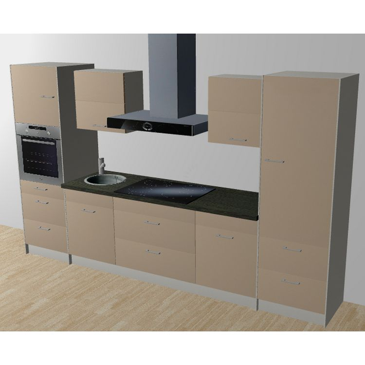 k chenzeile lennart 335 cm induktions kochfeld backofen. Black Bedroom Furniture Sets. Home Design Ideas