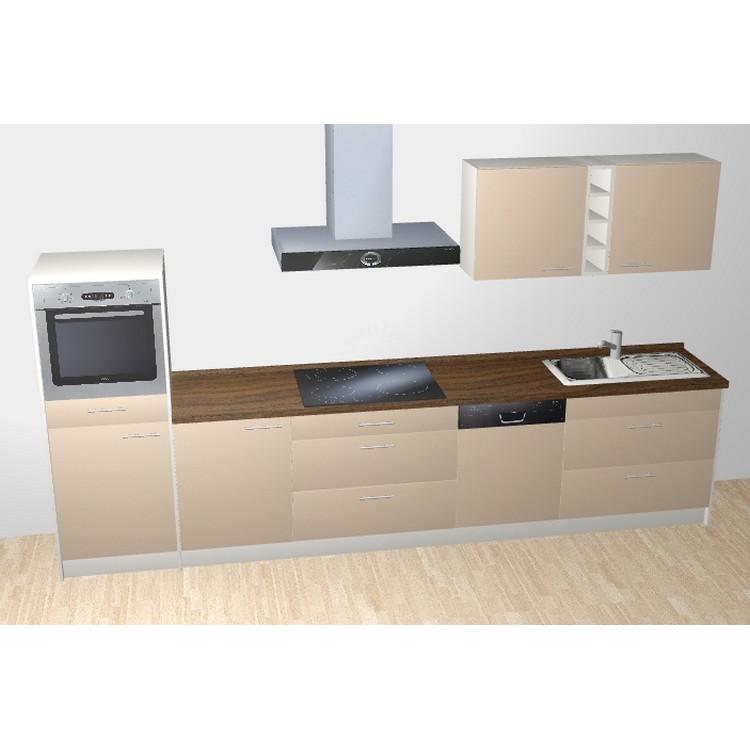 k chenzeile lennart 365 cm induktions kochfeld backofen. Black Bedroom Furniture Sets. Home Design Ideas