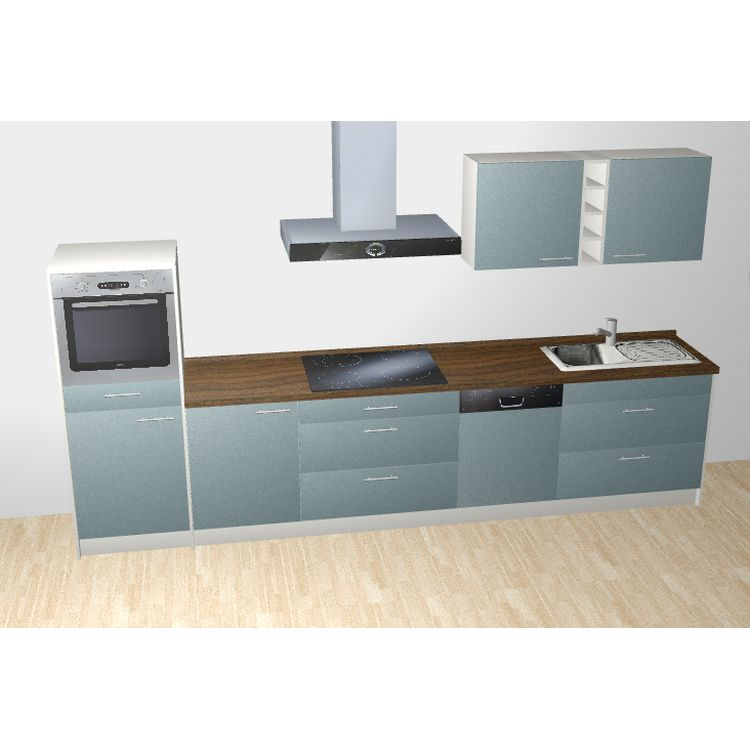k chenzeile lennart 365 cm induktions kochfeld backofen edelstahlsp le armatur k hlschrank. Black Bedroom Furniture Sets. Home Design Ideas